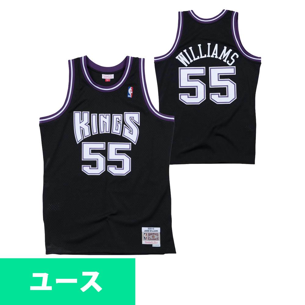 Black Sacramento Kings 2000-01 Jason Williams #55 Hardwood Classics Swingman Jersey