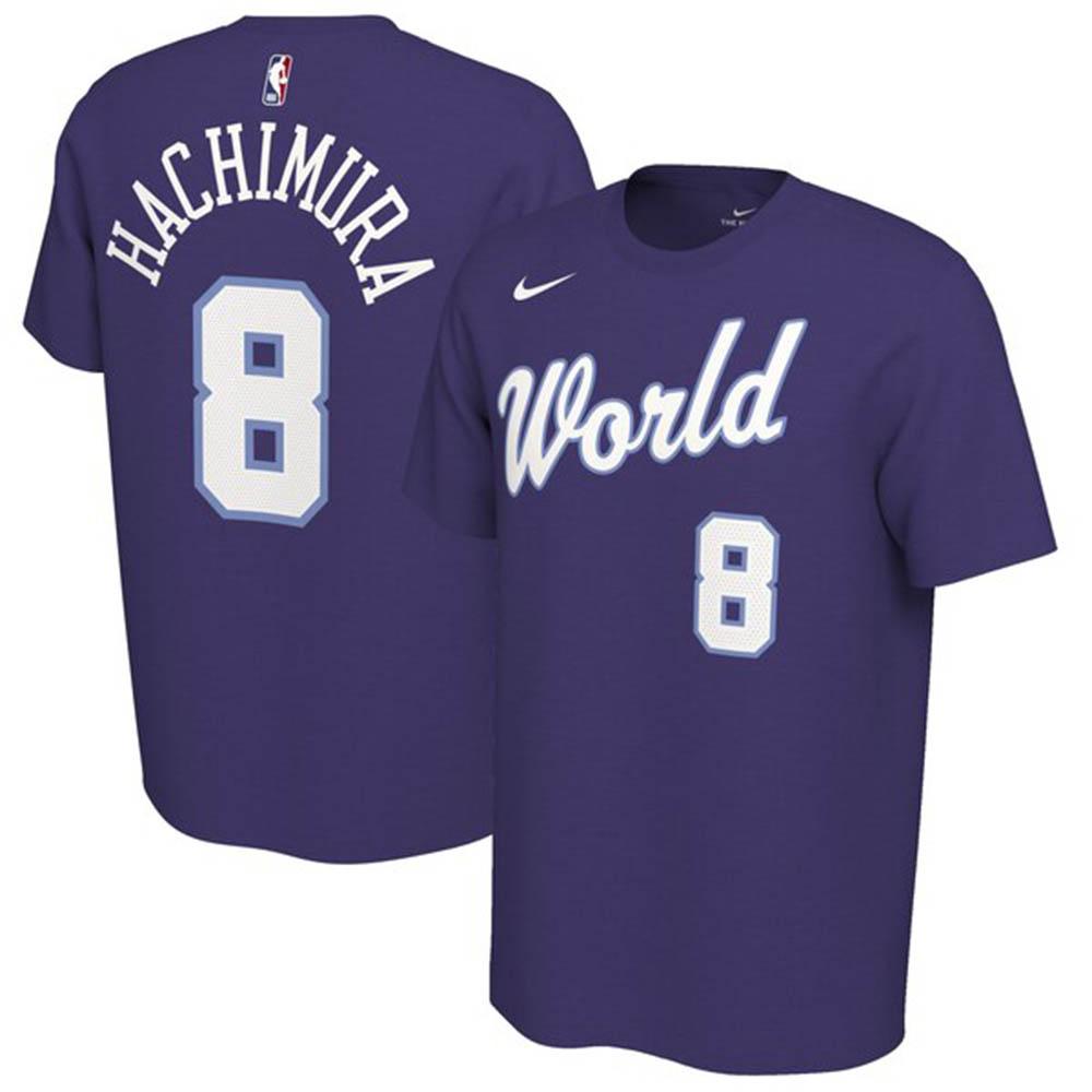 NBA 八村 塁 Rising Stars Tシャツ ライジングスターズ ゲーム2020 Name & Number T-Shirt ナイキ/Nike パープル トレーニング特集