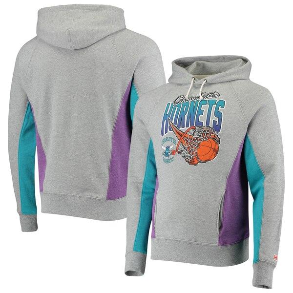 NBA シャーロット・ホーネッツ パーカー/フーディー オン ファイア トライブレンド プルオーバー Homage グレー