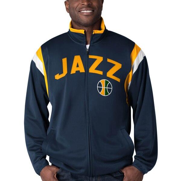 NBA ユタ・ジャズ ジャケット/アウター ポスト アップ トリコット フルジップ トラック G-III ネイビー