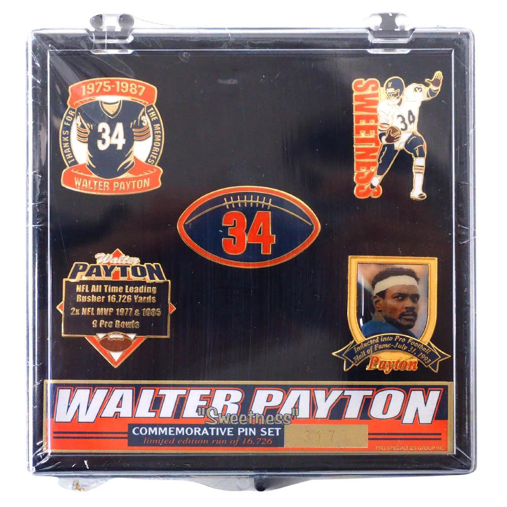 NFL ウォルター・ペイトン ベアーズ Walter Payton Sweetness Commemorative 5 Pin Set ピンズセット IMPRINTED PRODUCTS
