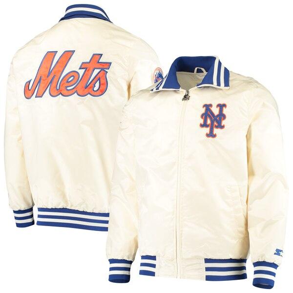 MLB ニューヨーク・メッツ ジャケット/アウター ザ キャプテン 2 フルジップ STARTER クリーム