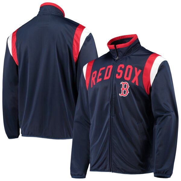 MLB ボストン・レッドソックス ジャケット/アウター ポスト アップ フルジップ トラック G-III ネイビー