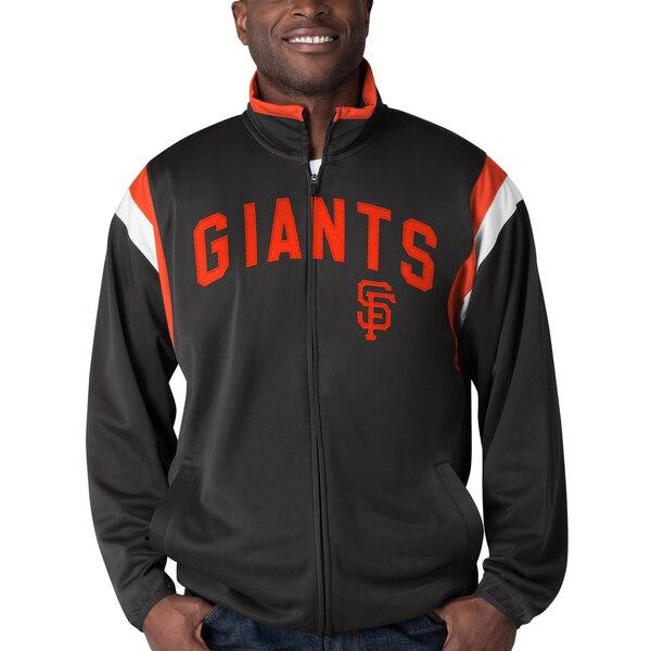 MLB サンフランシスコ・ジャイアンツ ジャケット/アウター ポスト アップ フルジップ トラック G-III ブラック