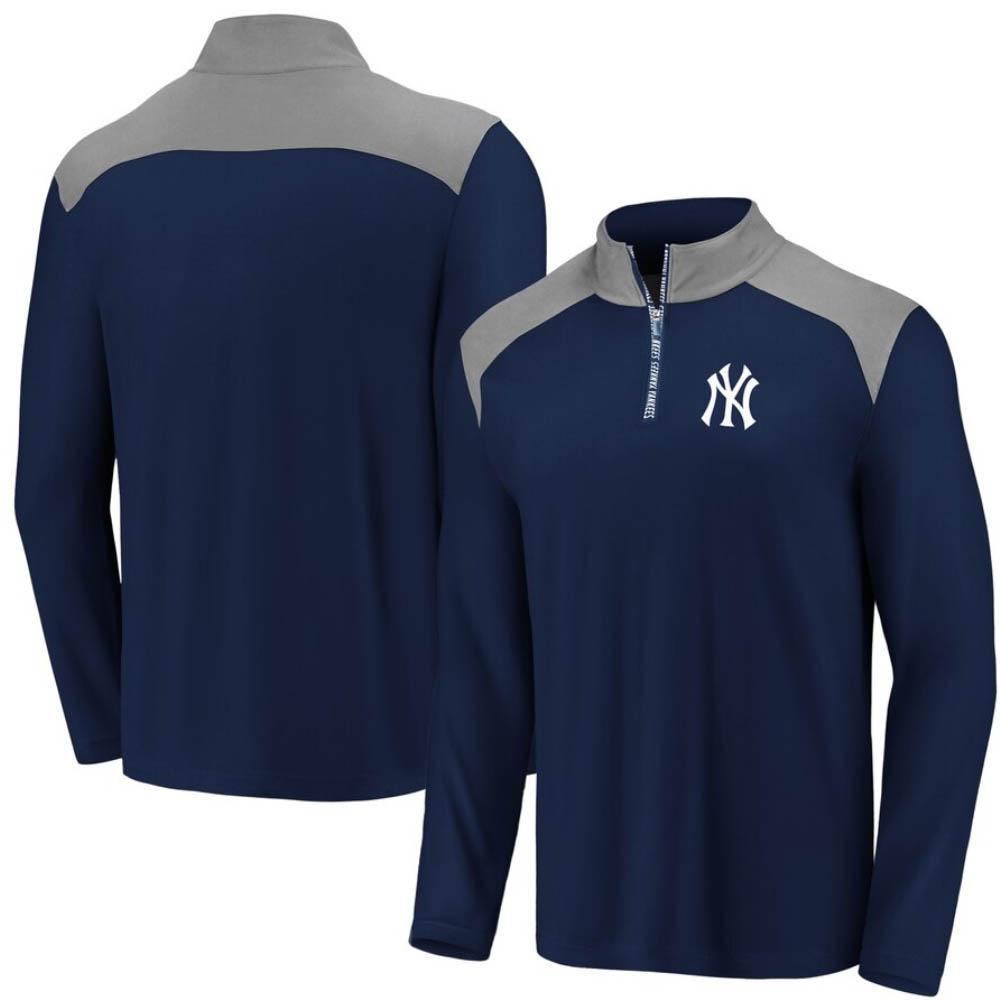 MLB ニューヨーク・ヤンキース アイコニック クラッチ 1/4 ジップ ネイビー【トレーニング特集】