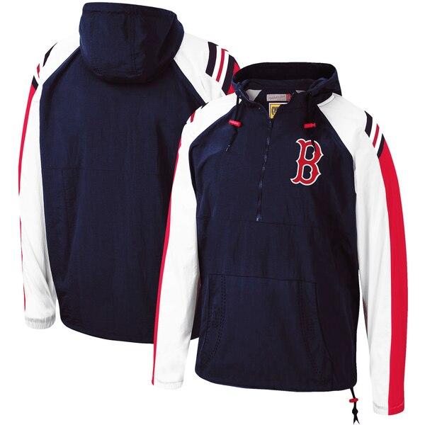 MLB ボストン・レッドソックス パーカー/フーディー アノラック ラグラン プルオーバー ミッチェル&ネス/Mitchell & Ness