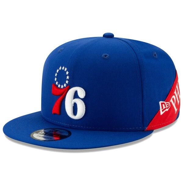 NBA フィラデルフィア・76ers キャップ/帽子 Team Bulletin 9FIFTY Adjustable Snapback Hat ニューエラ/New Era ロイヤル
