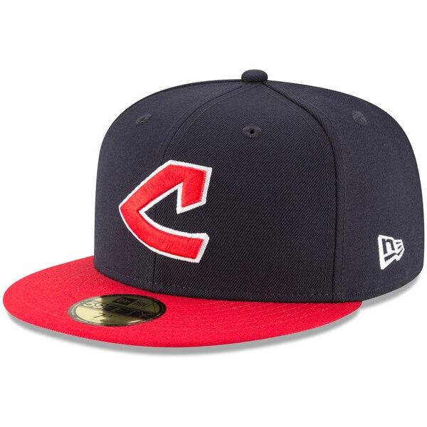 MLB クリーブランド・インディアンス キャップ/帽子 クーパーズタウン コレクション ウール 59FIFTY ニューエラ/New Era ネイビー
