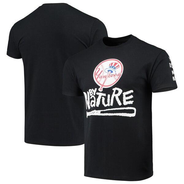 MLB ニューヨーク・ヤンキース Tシャツ ノーティー・バイ・ネーチャー ベースボール ブラック