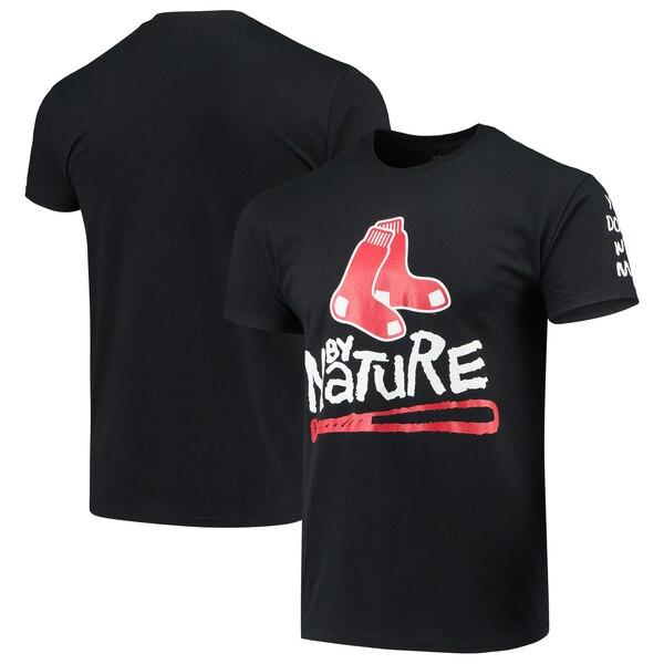 MLB ボストン・レッドソックス Tシャツ ノーティー・バイ・ネーチャー ベースボール ブラック