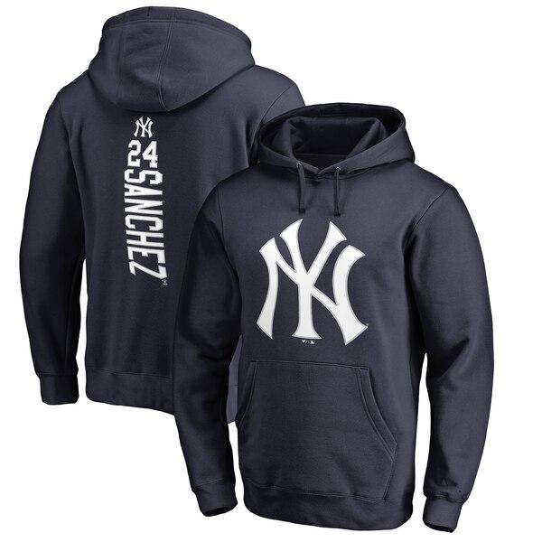 MLB ゲイリー・サンチェス ニューヨーク・ヤンキース パーカー/フーディー バッカー プルオーバー ネイビー