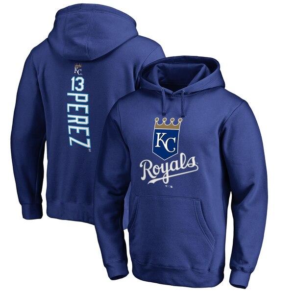 MLB サルバドール・ペレス カンザスシティ・ロイヤルズ パーカー/フーディー バッカー プルオーバー ロイヤル