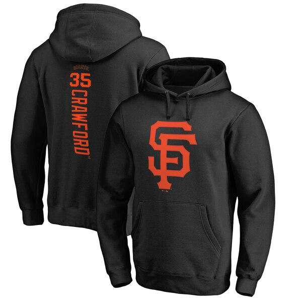MLB ブランドン・クロフォード サンフランシスコ・ジャイアンツ パーカー/フーディー バッカー プルオーバー ブラック