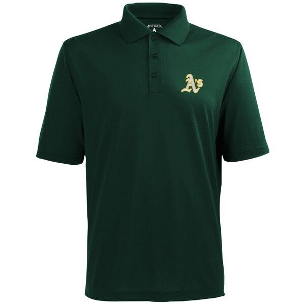 MLB オークランド・アスレチックス デザート ドライ エクストラライト ポロシャツ Antigua グリーン
