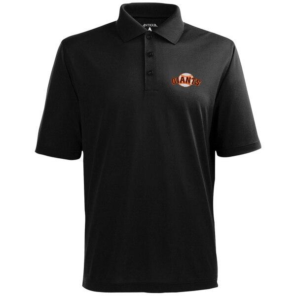 MLB サンフランシスコ・ジャイアンツ デザート ドライ エクストラライト ポロシャツ Antigua ブラック