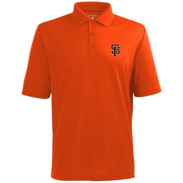 MLBチームロゴ ポロシャツ MLB サンフランシスコ ジャイアンツ オレンジ 新作 ドライ エクストラライト 気質アップ Antigua デザート