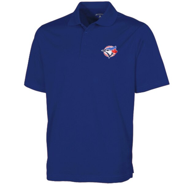 与え MLBチームロゴ ポロシャツ MLB トロント ブルージェイズ Antigua 完売 デザート エクストラライト ドライ ロイヤルブルー