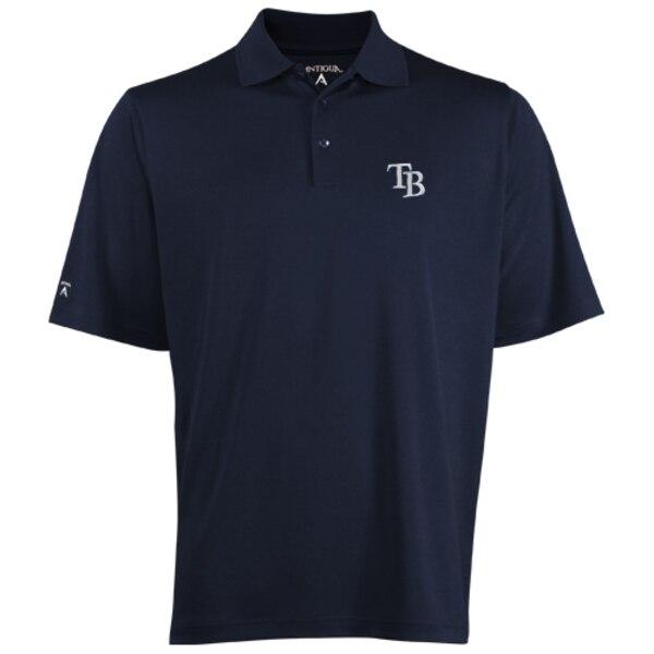 MLB タンパベイ・レイズ デザート ドライ エクストラライト ポロシャツ Antigua ネイビーブルー
