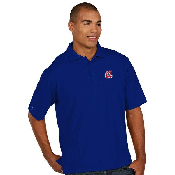 MLB アトランタ・ブレーブス デザート ドライ エクストラライト ポロシャツ Antigua ロイヤルブルー