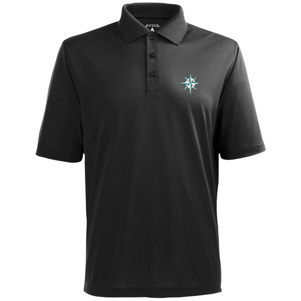 MLB シアトル・マリナーズ デザート ドライ エクストラライト ポロシャツ Antigua チャコール