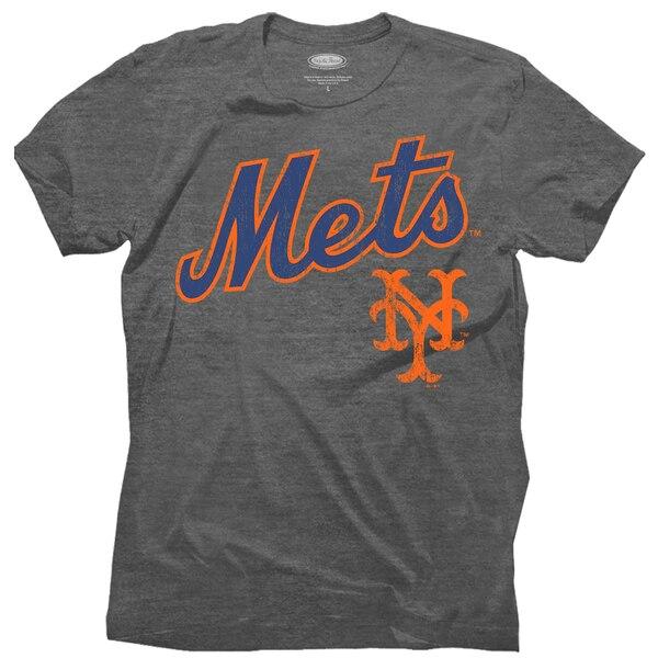 MLB ニューヨーク・メッツ Tシャツ スレッド グラニート トライブレンド クルー マジェスティック/Majestic グレー