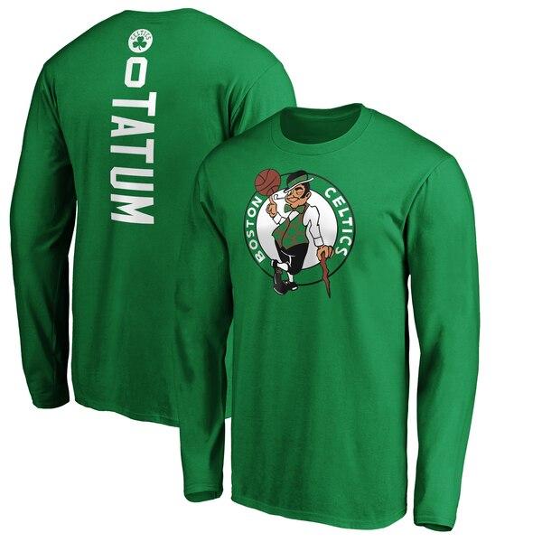 NBA ジェイソン・テイタム ボストン・セルティックス Tシャツ プレーメーカー ネーム & ナンバー ロングスリーブ ケリーグリーン