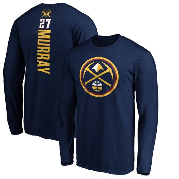 NBA ジャマール・マリー デンバー・ナゲッツ Tシャツ プレーメーカー ネーム & ナンバー ロングスリーブ ネイビー