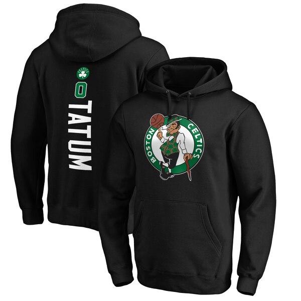 NBA ジェイソン・テイタム ボストン・セルティックス パーカー/フーディー プレーメイカー ネーム & ナンバー プルオーバー ブラック