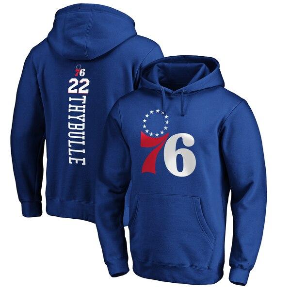 NBA マティス・サイブル フィラデルフィア・76ers パーカー/フーディー プレーメイカー ネーム & ナンバー プルオーバー ロイヤル