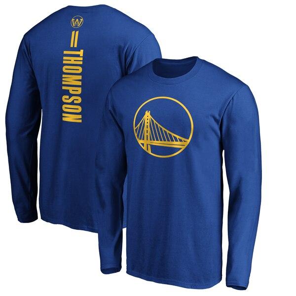 NBA クレイ・トンプソン ゴールデンステイト・ウォリアーズ Tシャツ プレーメーカー ネーム & ナンバー ロングスリーブ ロイヤル