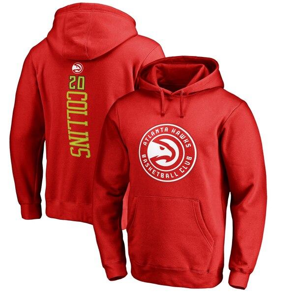 NBA ジョン・コリンズ アトランタ・ホークス パーカー/フーディー バッカー ネーム & ナンバー プルオーバー レッド