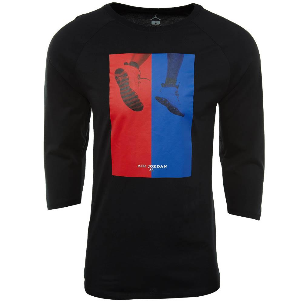 JORDAN/ジョーダン Tシャツ Jordan Retro 10 CNXN 3/4 Raglan T-Shirt ブラック