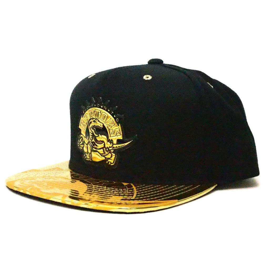 NBA トロント・ラプターズ キャップ/帽子 Gold Standard Cap スナップバック ミッチェル&ネス/Mitchell & Ness ブラック