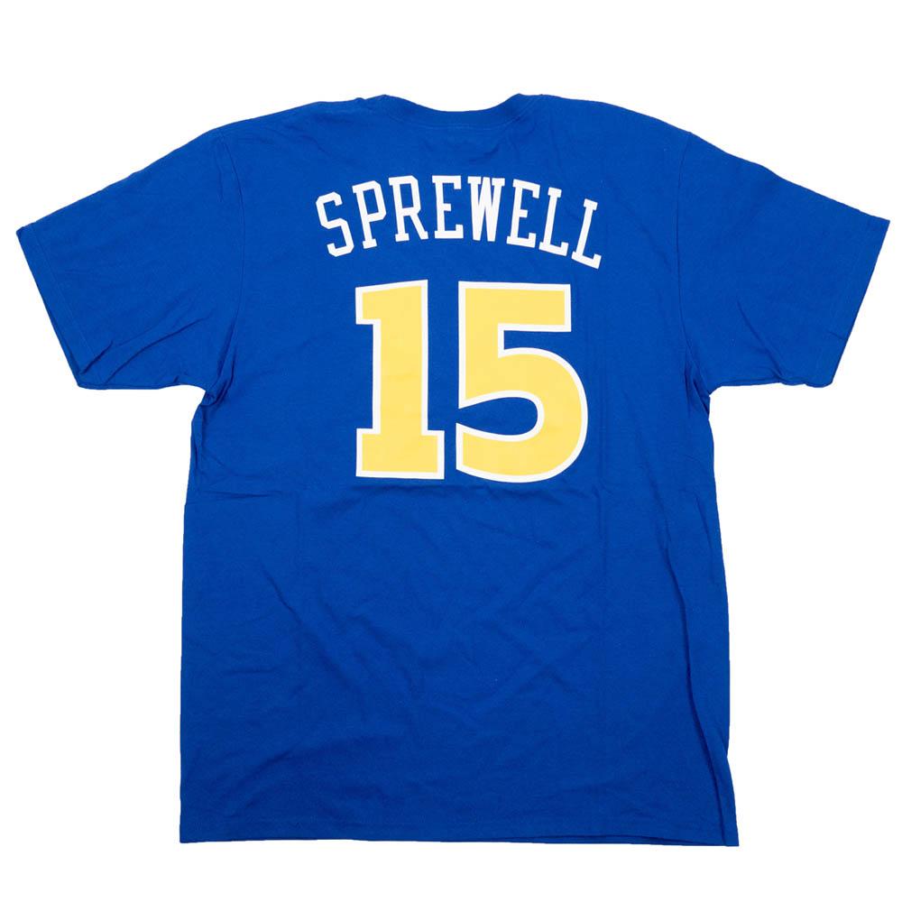 NBA ラトレル・スプリーウェル ウォリアーズ Tシャツ スローバック ネーム & ナンバー アディダス/Adidas ブルー