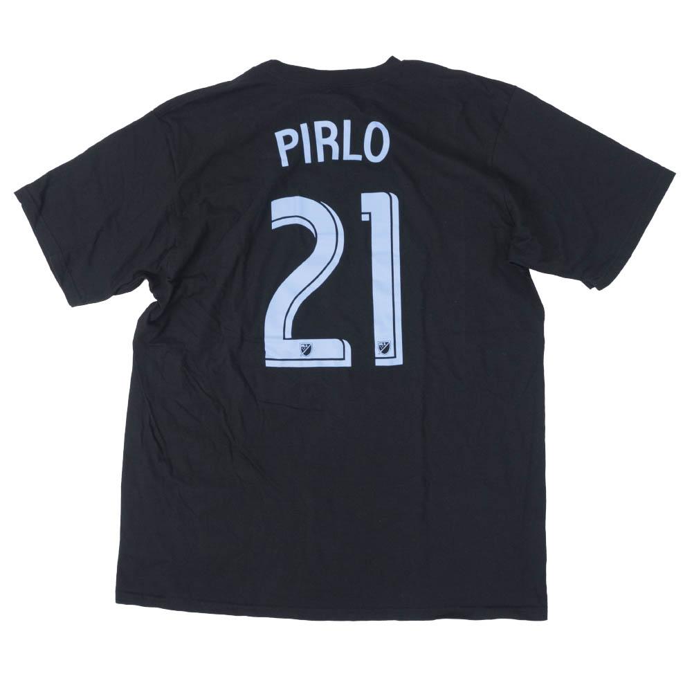 <title>あす楽対応 メジャー リーグ サッカー MLS グッズ アンドレア ピルロ ニューヨークシティFC Tシャツ NN Jersey Tee 国際ブランド アディダス Adidas ブラック</title>