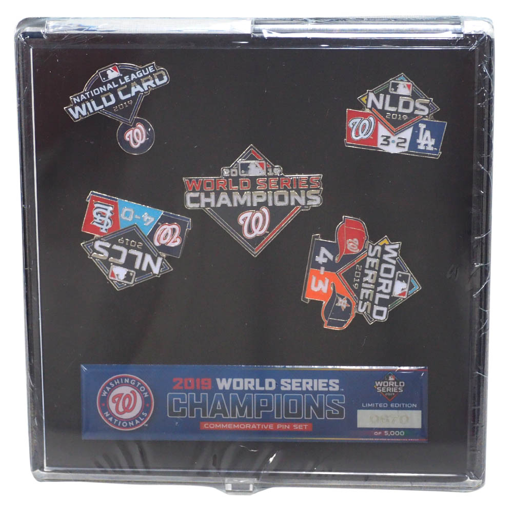 MLB ワシントン・ナショナルズ ピンバッチ 2019 ワールドシリーズ 優勝記念 Commemorative Pin Set PSG