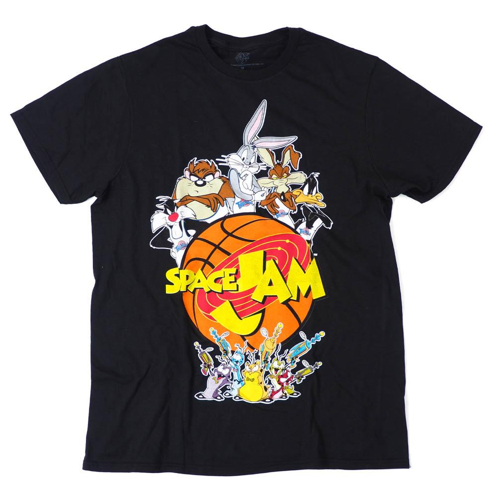 スペース・ジャム Movie Tシャツ バッグス・バニー, ダフィー・ダック, タスマニア・デビル, シルベスター・キャット