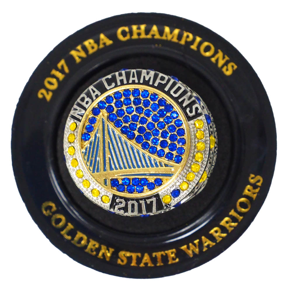NBA ゴールデンステイト・ウォリアーズ リング 2017 Champions Replica Ring (4/2/19)Attached Stand 優勝記念 SGA