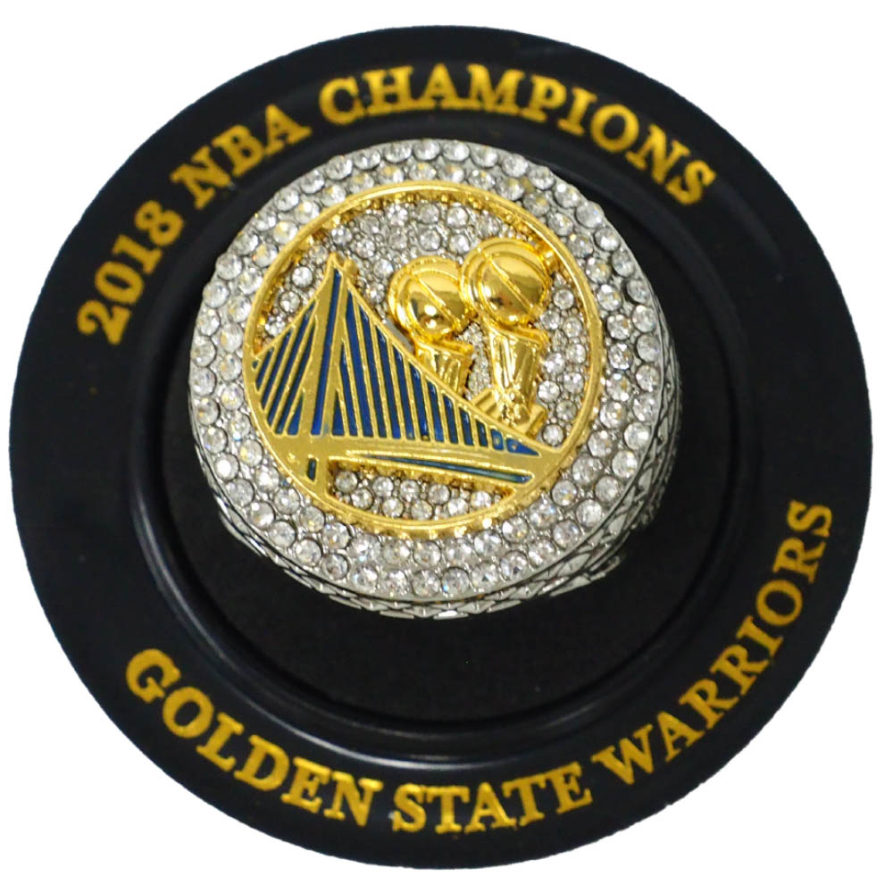 NBA ゴールデンステイト・ウォリアーズ リング 2018 Champions Replica Ring (10/22/18) 優勝記念 SGA