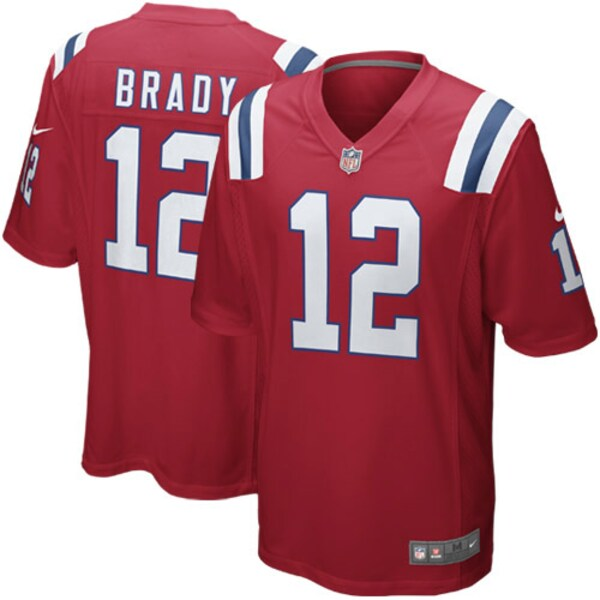 NFL トム・ブレイディ ペイトリオッツ ユニフォーム/ジャージ Alternate Game Jersey ナイキ/Nike レッド