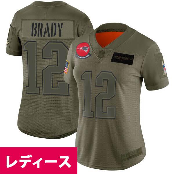 NFL トム・ブレイディ ペイトリオッツ ユニフォーム/ジャージ レディース 2019 Salute to Service Limited Jersey ナイキ/Nike Olive