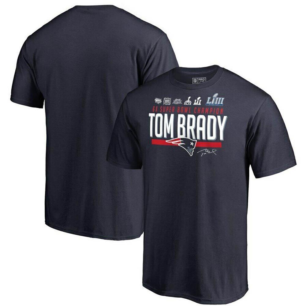 ご予約 NFL トム・ブレイディ ペイトリオッツ Tシャツ 6x スーパーボウル チャンピオン ネイビー