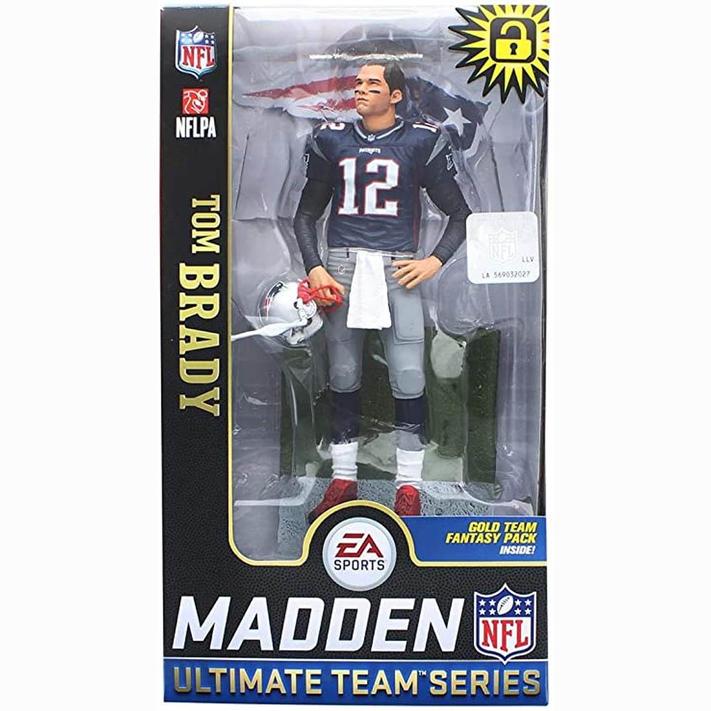 ご予約 NFL トム・ブレイディ ペイトリオッツ フィギュア EA Sports Madden NFL18 Ultimate Team Series 2 McFarlane ホーム (ネイビー)