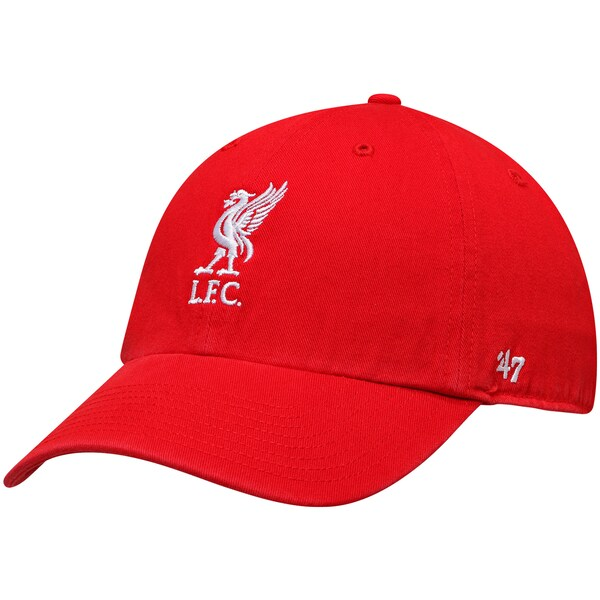 47ブランド x 日本産 海外サッカークラブCAP リヴァプールFC キャップ 爆買いセール 帽子 SOCCER Clean Up レッド Side YNWA Brand 47 Embroidery Adjustable Hat