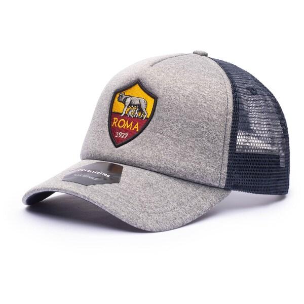 日本入手困難 海外サッカークラブCAP ASローマ キャップ 帽子 SOCCER Grayline 開店祝い 《週末限定タイムセール》 Fi Collection ヘザーグレー Hat Trucker Adjustable