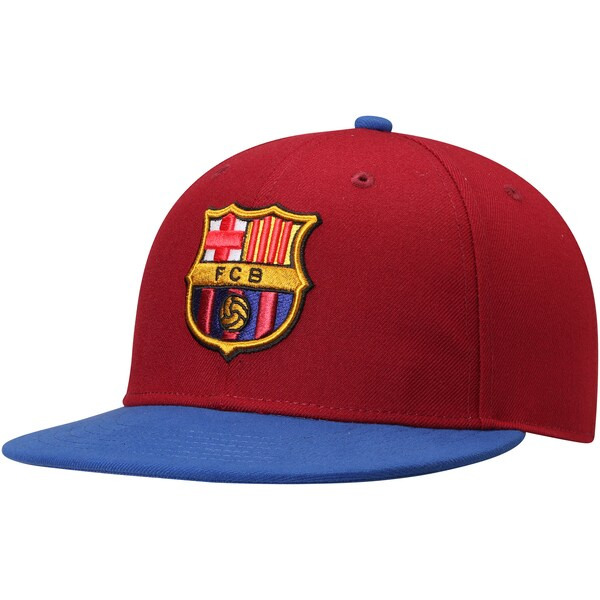 FCバルセロナ キャップ/帽子 SOCCER Team Fitted Hat Fi Collection Burgundy/Blue