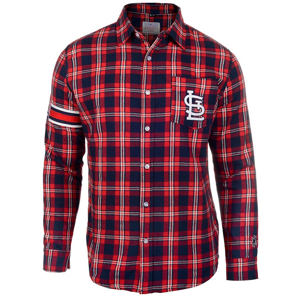 MLB セントルイス・カージナルス Wordmak Basic Flannel Shirt