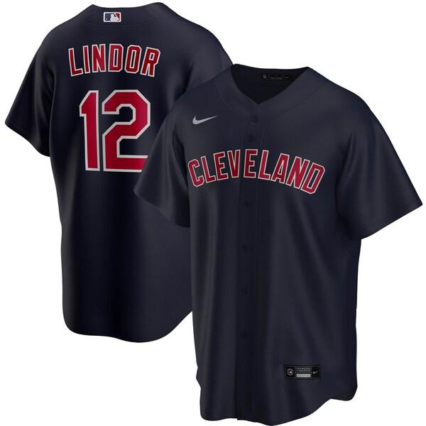 MLB フランシスコ・リンドール クリーブランド・インディアンス ユニフォーム/ジャージ 2020 レプリカ プレーヤー ナイキ/Nike ネイビー