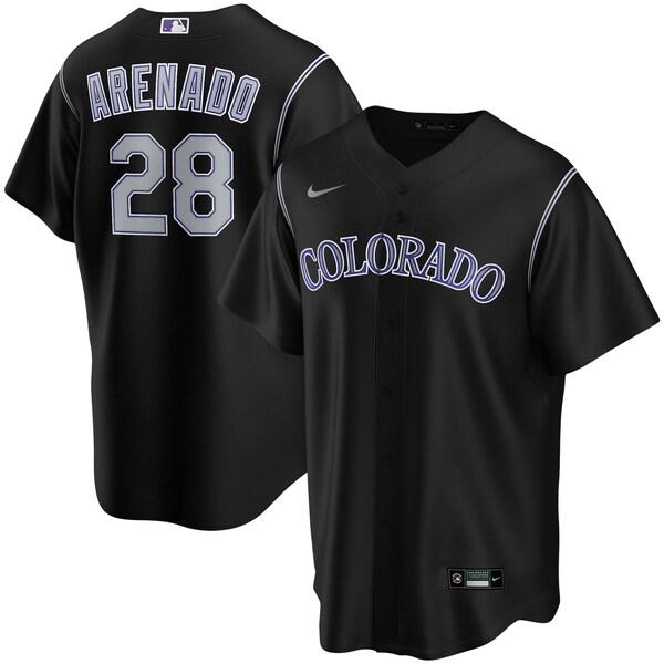 MLB ノーラン・アレナド コロラド・ロッキーズ ユニフォーム/ジャージ 2020 レプリカ プレーヤー ナイキ/Nike ブラック