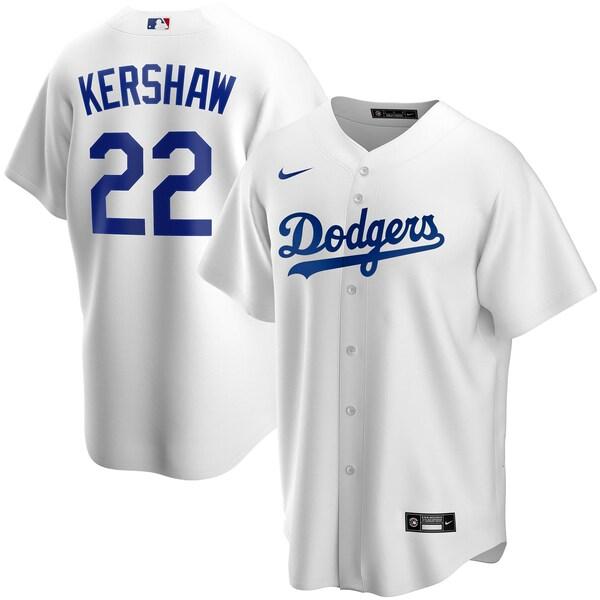 MLB クレイトン・カーショー ロサンゼルス・ドジャース ユニフォーム/ジャージ 2020 レプリカ プレーヤー ナイキ/Nike ホワイト